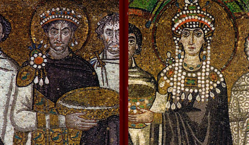 Icons of Saints Justinian the Great and Theodora