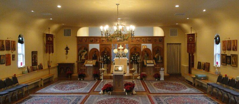 The nave of Holy Resurrection Orthodox Church, Tacoma, WA