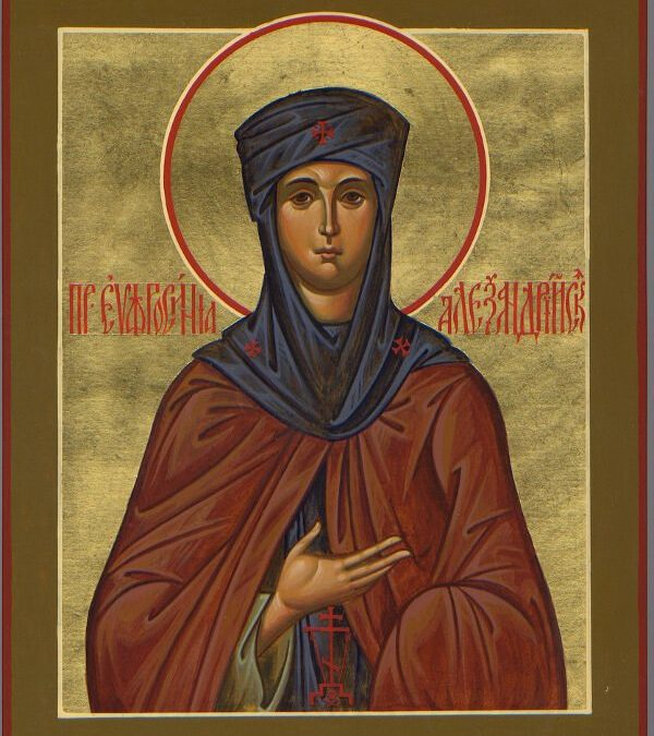 The Emerald of God, St. Euphrosyne of Alexandria