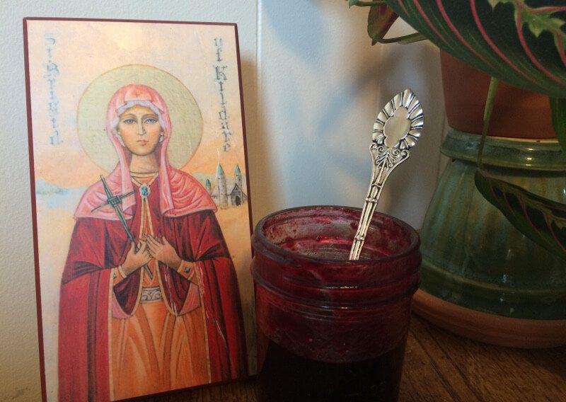 St. Brigid's Cloak and Blueberry Jam