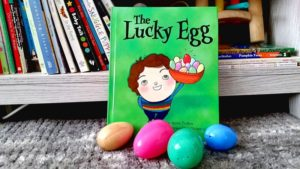 The Lucky Egg is a whimsical picture book about a Greek Orthodox family celebrating Easter.