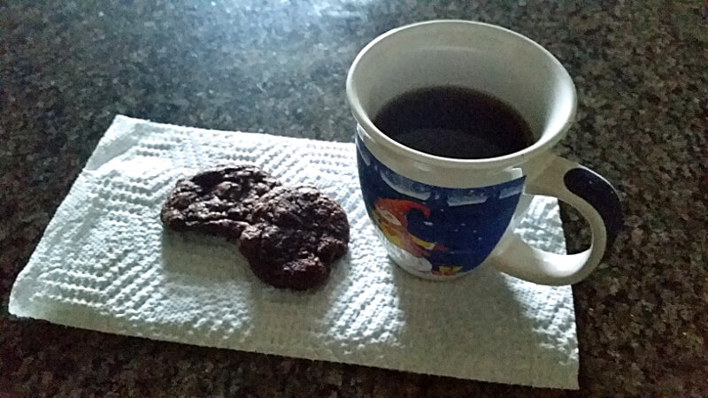 Double chocolate chocolate chip cookies (yes, they're gluten-free!)