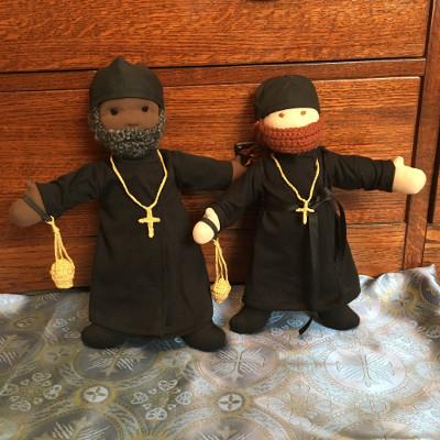 Waldorf-style monk dolls