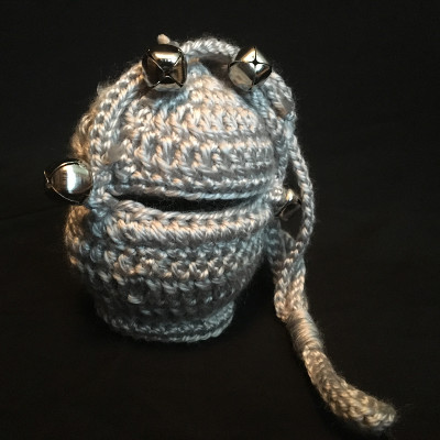 crocheted censer with bells