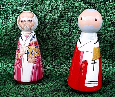 Saint Nicholas peg dolls