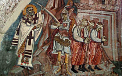 St. Nicholas takes the executioner's sword