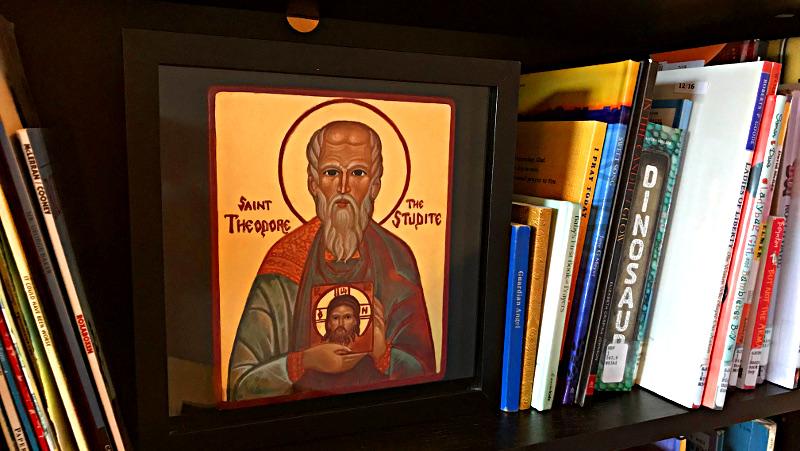 My godson's patron, St. Theodore the Studite