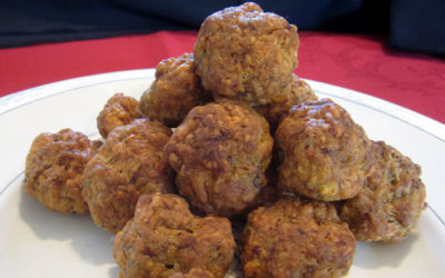Cheese and sausage balls