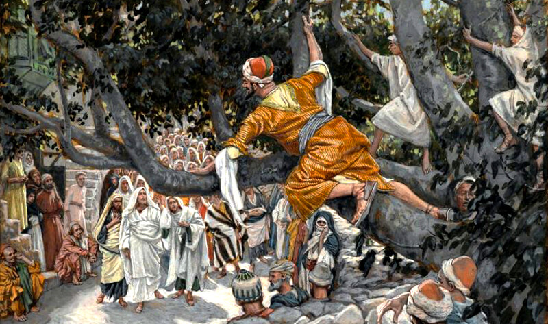 When Jesus was the guest of Zacchaeus the Publican