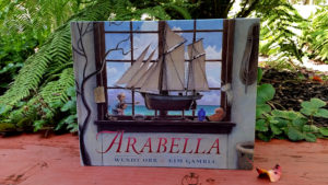 The picture book Arabella has a picture of an elaborate model sailboat sitting in the window