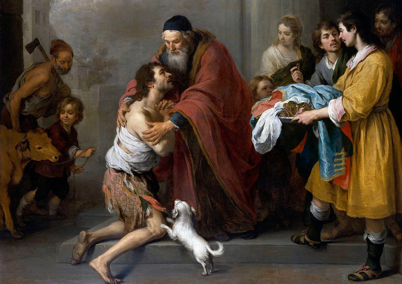 Return of the Prodigal Son, 17th century painting by Murillo