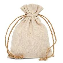 drawstring linen bag