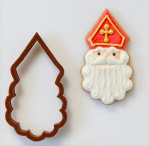 St. Nicholas cookie cutter and cookie