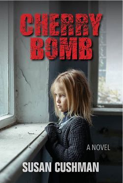 On the cover of Cherry Bomb, a disheveled blonde girl stares out a window