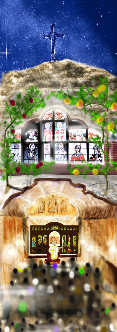 St. Elijah Orthodox Church at Coober Pedy is built underground